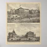 Residencias de la casa y de Kaighn y de la camilla Póster