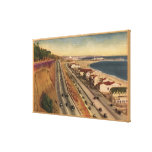 Residencias de la playa de las estrellas de cine impresión en lienzo estirada