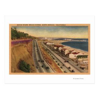 Residencias de la playa de las estrellas de cine postales