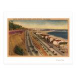 Residencias de la playa de las estrellas de cine postal