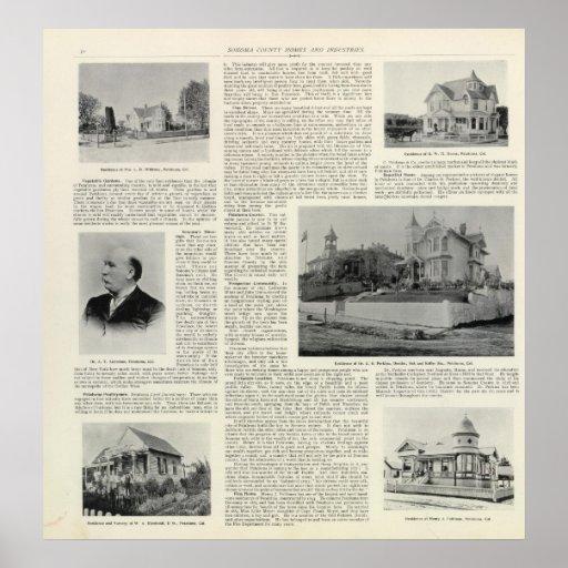 Residencias de Petaluma, California Posters