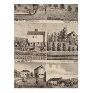 Residencias en Rochester y en Dodge, Minnesota Tarjeta Postal