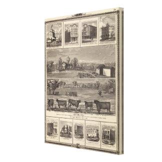 Residencias, granja, negocios en la libertad de W, Impresión De Lienzo