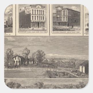 Residencias, granja, negocios en la libertad de W, Calcomanía Cuadradas Personalizadas