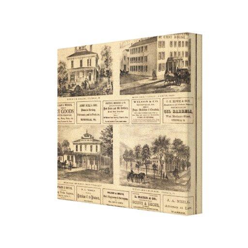 Residencias, hoteles, Titusville, Franklin Lienzo Envuelto Para Galerias