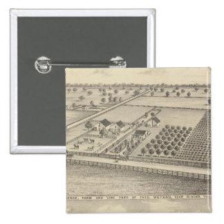 Residencias, la estación del negro pin cuadrada 5 cm