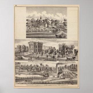 Residencias y edificios en arboleda del álamo poster