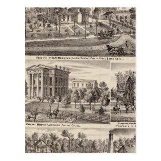 Residencias y edificios en arboleda del álamo postales