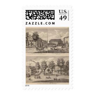 Residencias y fábrica en Bennington Timbres Postales