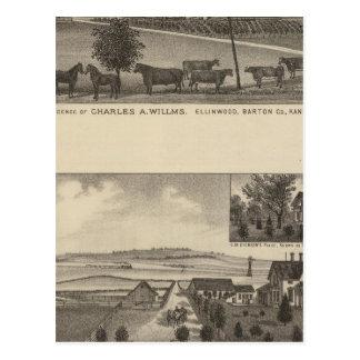 Residencias y granjas, Edgerton, Kansas Tarjeta Postal