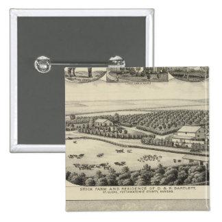 Residencias y granjas, Kansas de Bartlett y de Rob Pin Cuadrado