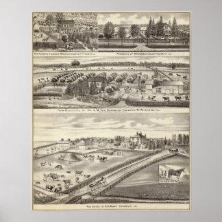 Residencias y residencias de la granja en Putnam C Poster