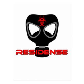 residense mask poison cartão postal