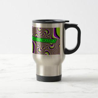 residense style psycodelic travel mug