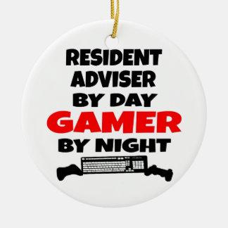 Resident Adviser Gamer Ceramic Ornament