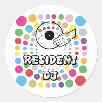 Resident DJ Classic Round Sticker
