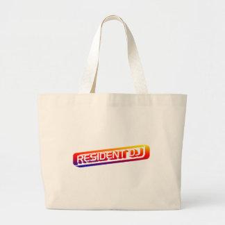 Resident DJ - Disc Jocket Music Turntable Vinyl Canvas Bags