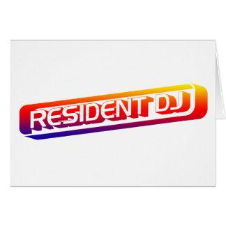 Resident DJ - Disc Jocket Music Turntable Vinyl Greeting Cards