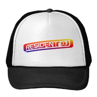 Resident DJ - Disc Jocket Music Turntable Vinyl Trucker Hats