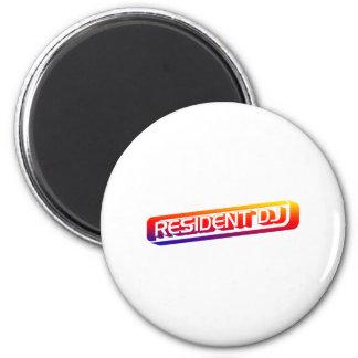 Resident DJ - Disc Jocket Music Turntable Vinyl Fridge Magnet