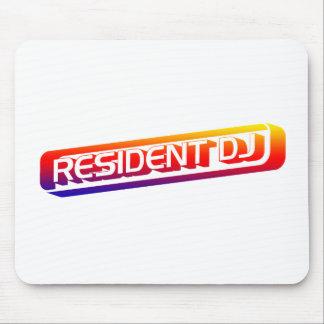 Resident DJ - Disc Jocket Music Turntable Vinyl Mouse Mat