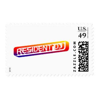Resident DJ - Disc Jocket Music Turntable Vinyl Postage Stamp