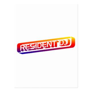 Resident DJ - Disc Jocket Music Turntable Vinyl Post Cards