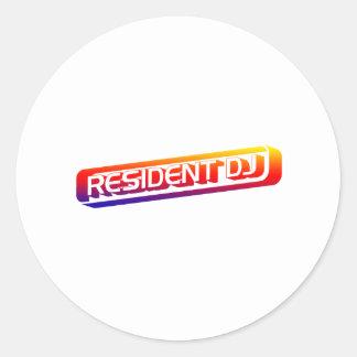 Resident DJ - Disc Jocket Music Turntable Vinyl Stickers