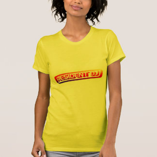 Resident DJ - Disc Jocket Music Turntable Vinyl Tee Shirts