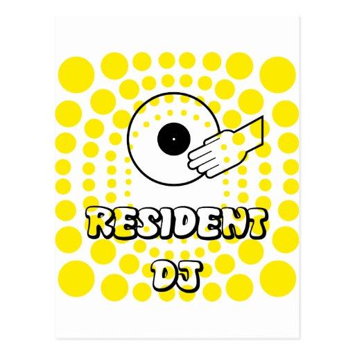 Resident DJ Postcard