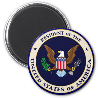 Resident of the United States of America 2 Inch Round Magnet