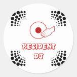 Residente DJ Pegatina Redonda