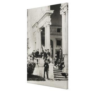 Residentes del chalet Medici en Roma Lienzo Envuelto Para Galerías