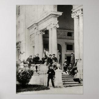 Residentes del chalet Medici en Roma Póster