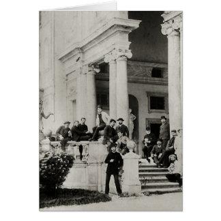 Residentes del chalet Medici en Roma Tarjeta De Felicitación