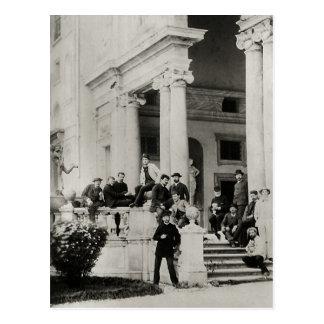 Residentes del chalet Medici en Roma Tarjeta Postal