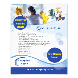 RESIDENTIAL cleaning service flyer