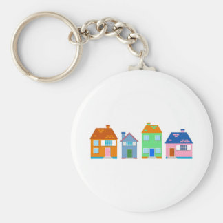 Residential Homes Keychain