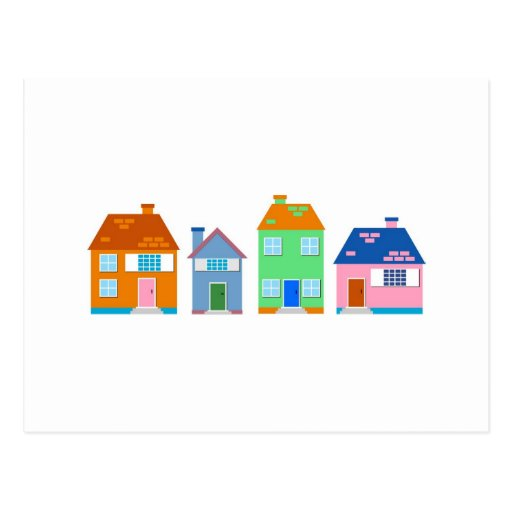 Residential Homes Postcard