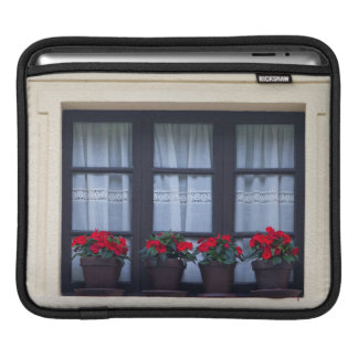 Residential housing with flowers in windows iPad sleeve
