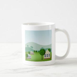 Residential Neighborhood Homes Cartoon Coffee Mug