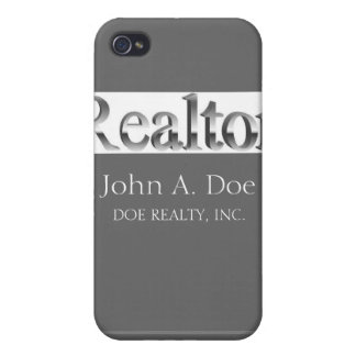 Residential Realtor 3D Mirrored Letter Silver  Case For iPhone 4