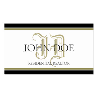 Residential Realtor Gold Roman Business Card Templates