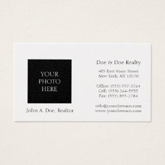 Residential Realtor Head Shot Platinum Paper Business Card