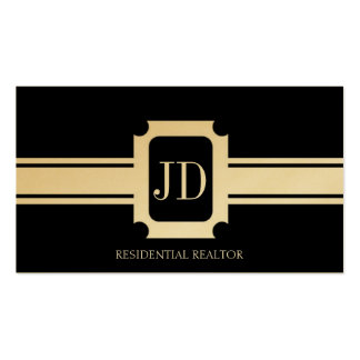 Residential Realtor Real Estate Gold Ribbon Business Card