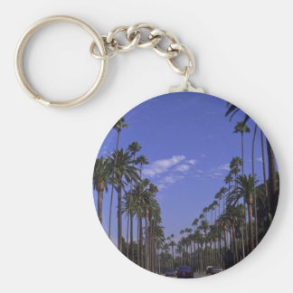 Residential Rodeo Drive, Beverly Hills, California Basic Round Button Keychain