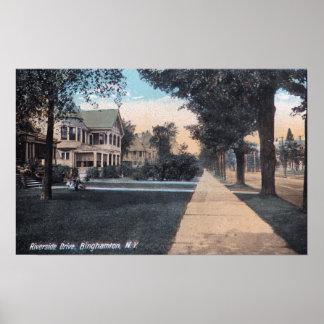 Residential Scene on Riverside Drive Posters