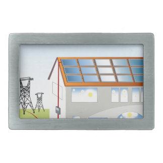 Residential Solar Panel System Rectangular Belt Buckle