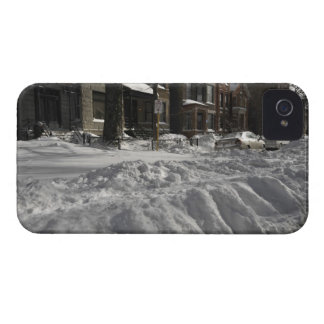 Residential urban (city) street on sunny winter 2 iPhone 4 Case-Mate case