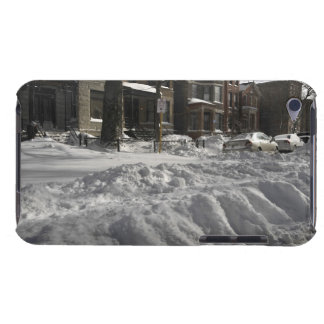 Residential urban (city) street on sunny winter 2 iPod touch case